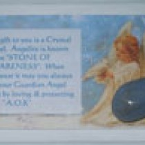 Angelite Crystal Card