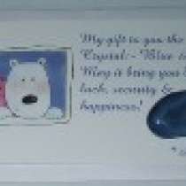 Bear Card Blue Agate