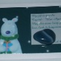 Bear Card Blue-Green Agate