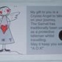 Garnet Crystal Angel Card