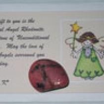Rhodonite Crystal Card