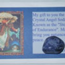 Sodalite Crystal Card