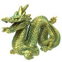 Dragon in acqua/gold finish in gift box