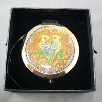 Gold Enamel Compact
