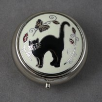 Black Cat Pill Box