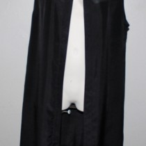 Silk Apron - black