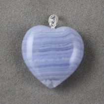 Blue Lace Agate Heart