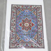 Miniature Carpet Card blue red
