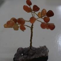 Gemstone Tree - Carnelian on amethyst