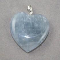 Celestite Heart Pendant
