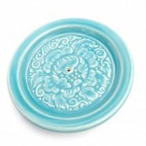 Ceramic Blue Dish Incense Holder