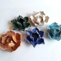 Ceramic Lotus Incense Holder blue