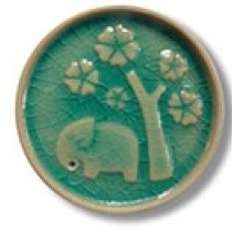 Circular Elephant Incense Holder