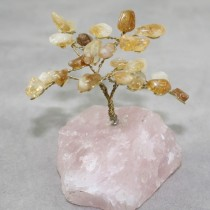 Citrine with rose quartz