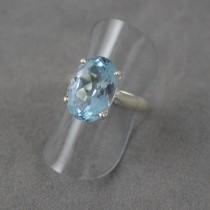 Blue Topaz Claw Ring
