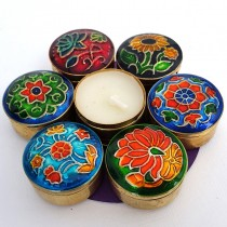 Perfumed Candles Cloisonne  Set of 7 Song of India