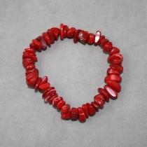 Coral Chip Bracelet