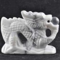 White Howlite Dragon
