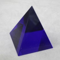 Crystal Pyramid Blue