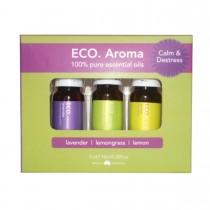 ECO Aroma Calm and Destress Trio Essential Oil Blend