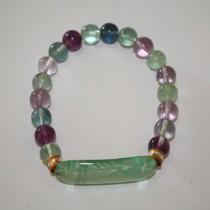 Fluorite Quan Yin Bracelet