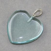 Green Obsidian Heart