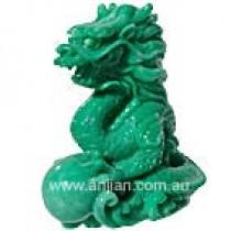 Jade finish dragon in gift box
