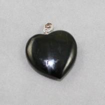 Jet Heart Pendant