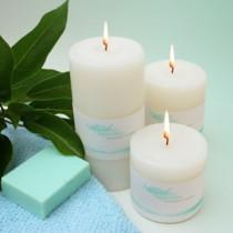 Peppermint Pillar Candle