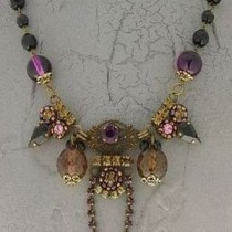 Winter purple Italian necklace