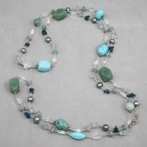 Blue gemstones necklace