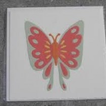 Pink-pale green butterfly