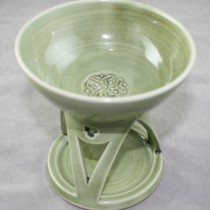 Celtic Oil Burner - Sage