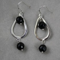 Onyx Faceted Earrings