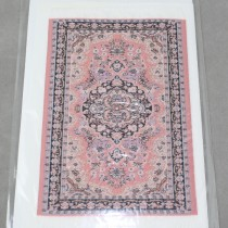 Miniature Carpet Card pink