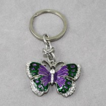 Purple Butterfly Key Ring