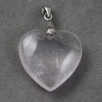 Clear Quartz Heart