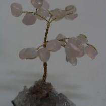 Rose Quartz gemstones on amethyst