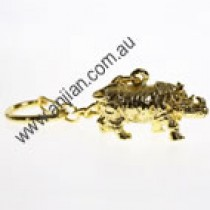 Rhinoceros, Protection gold keyring