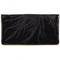 Fire Burst Wallet - Licorice/Yellow