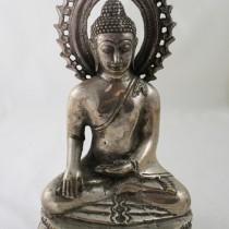 Silver-plated Buddha