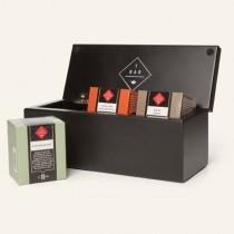 T BAR Wooden Black 3 Compartment Tea Bag Gift Box