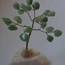 Gemstone Tree - Aventurine on quartz