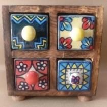Mango Wood Cabinet Drawers
