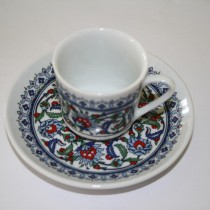 Set of Turkish Cups and Saucers