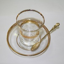 Turkish Glass Cup & Saucer