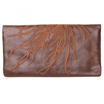 Fire Burst Wallet - Chocolate/Toffee